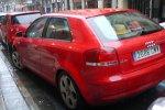 czerwone  Audi, samochód